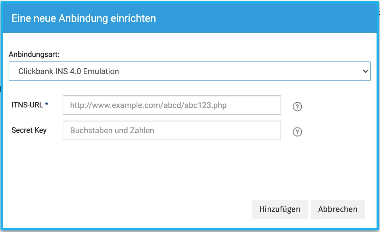 Integration mit Clickbank für affilicon einrichten